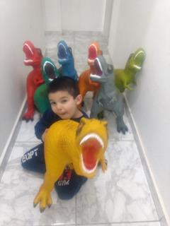Dinosaurios De Goma Súper Gigantes Juguete