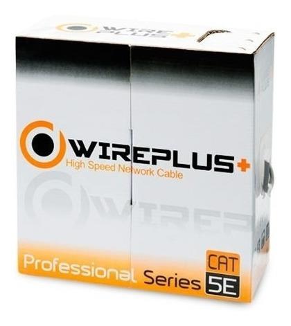 Rollo De 10 Metros De Cable Utp Cat5e Cca Wireplus+