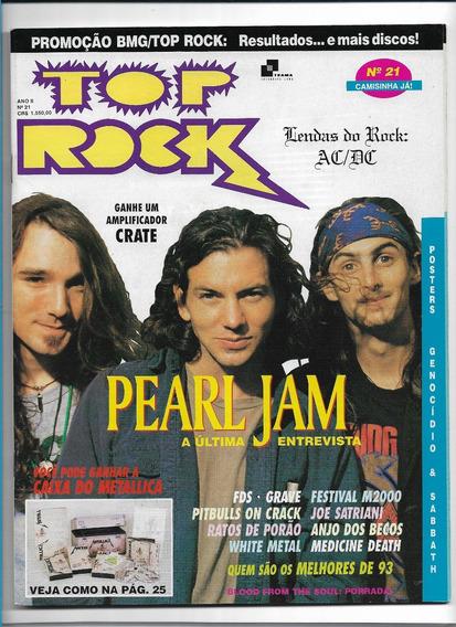 Revista Top Rock 21 Pearl Jam
