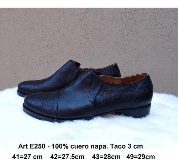 Zapatos Cuero Napa - Talles Grandes 41 42 43 44 - Art E250