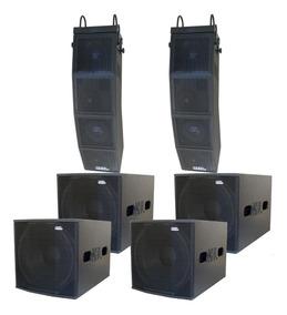 Caixa Ativa Line Array Estereo 6 Caixas Pa Amplificado 7200w