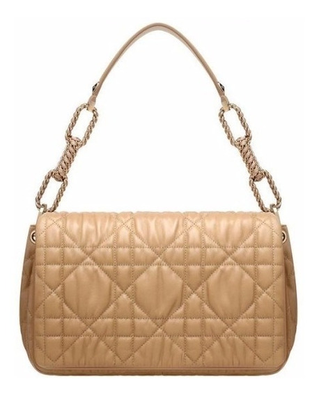 Dior Beige Leather Delices Shopping Bag