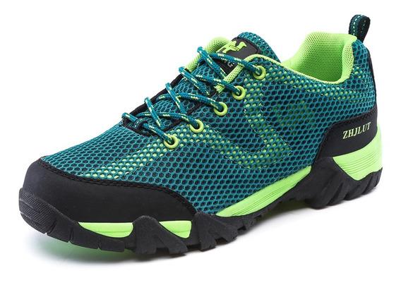 Respirável Malha Ao Ar Livre Caminhada Sapatos Masculinos A