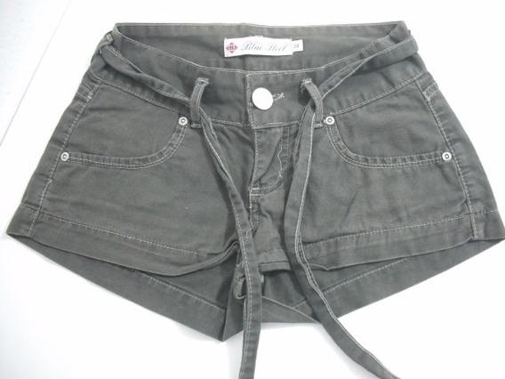Shorts Curto Verde Militar Tam 34 Usado Bom Estado