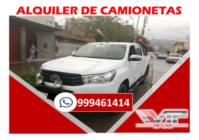 Alquiler De Camionetas 4x4 En Huancayo-jauja