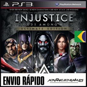 Injustice Gods Among Us + Dlcs - Jogos Ps3 Psn Midia Digital