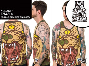 Playera Mishka Tank - Beast - Disponible En Blanco Y Dorado