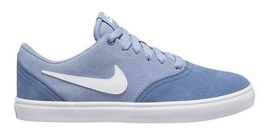Tenis Nike Wmns Sb Check Solar Azul Talla #23 Mujer Cdl