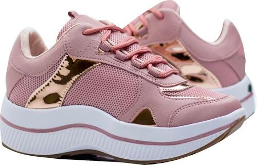 Tenis Zapatos De Plataforma Altos De Dama, Mujer