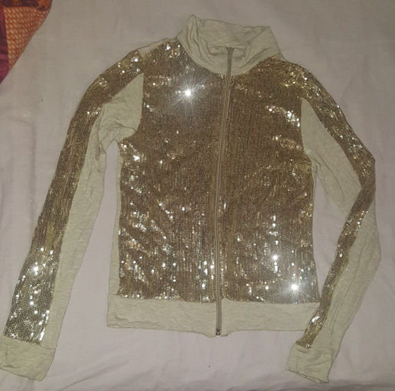 Campera Modal Con Brillo