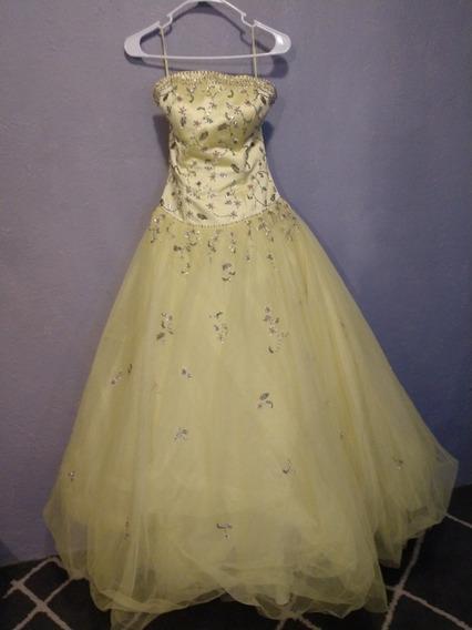 Vestido De Xv Años Y/o De Gala, En Color Amarillo