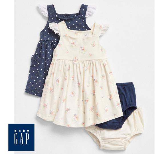 Vestidos Bebês Grife Gap - Tamanho 6-12 Meses (pack 2)
