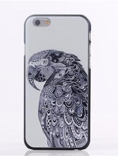Capa Case iPhone 6 Papagaio Maori Mandala Preta Exclusividad