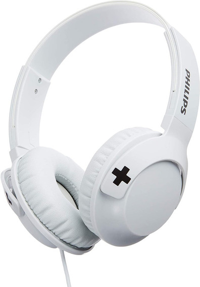 Fone Headphone Philips Shl3075 Bass Branco Com Microfone