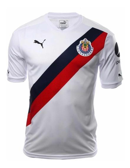 Playera Chivas Del Guadalajara 2017 Visita Original
