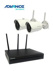 Adv Kit Cámaras Ip Wireless Advance Camws22, 2 Cámaras, Nvr