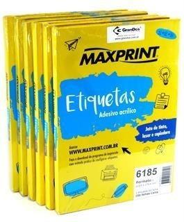 Etiqueta Maxprint 6189 60 Etiqueta Por Folha - Cx C/100 Unid