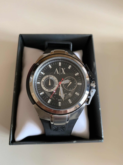 Relógio Armano Exchange Masculino Ax1042 Em Aço Cronógrafo