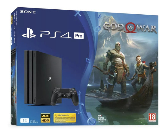 Playstation 4 Pro 1tb + God Of War 4 + Fifa20 Oferta