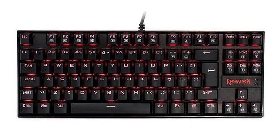 Teclado Mecânico Gamer Kumara Led Vermelho Redragon