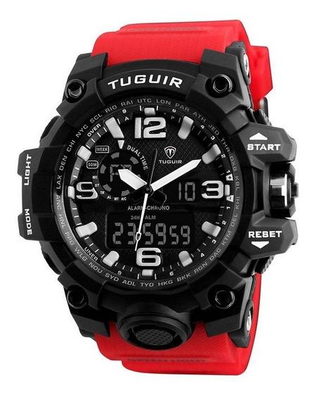 Relógio Masculino Tuguir Tg1155 Anadigi Original Resistente