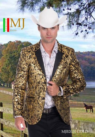 Saco De Caballero Premium Marca Moderno Mjb 2020 Black/gold