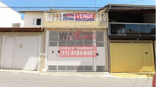 Sobrado Na Vila Sul Americana, Carapicuíba, 3 Quartos Com Garagem - 1034