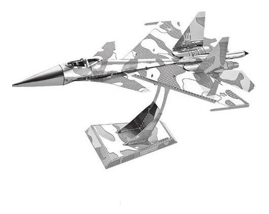 3d Metal Caça Su-34 Decoração De Mesa A Pronta Entrega