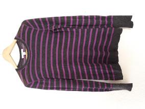 Suéter A Rayas Manga Larga