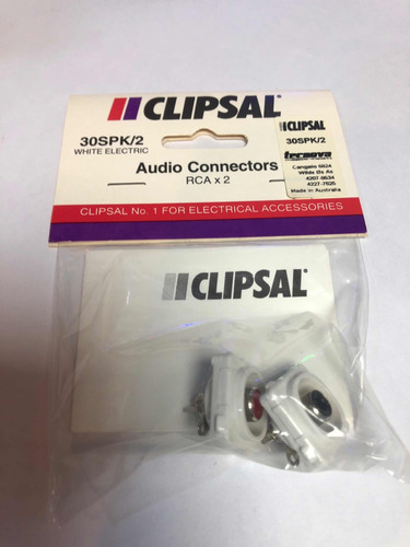 Imagen 1 de 1 de Módulo Rca Audio Clipsal Tecnova 30spk/2 Par Australianos
