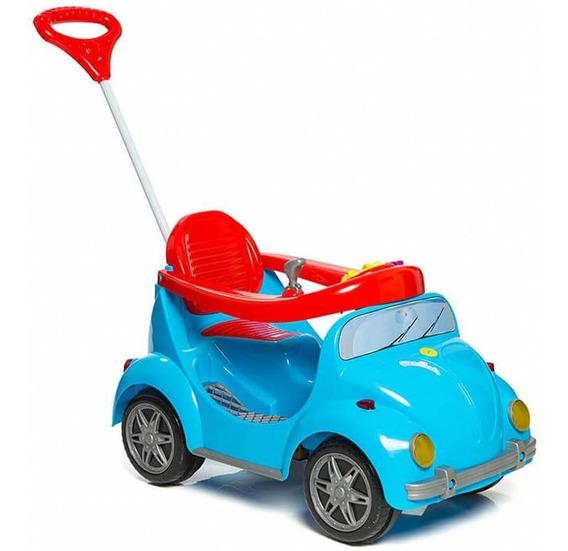 Carrinho De Passeio Infantil Fouks Fusca Azul Calesita 0998