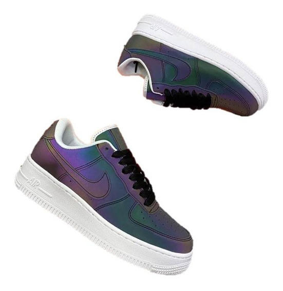 Tenis Zapatillas Nike Air Force 1 Reflectiva Mujer 70% Dcto