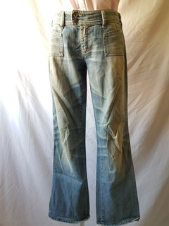 Calça Jeans Diesel Feminina Azul Lavada Número 38 Usada
