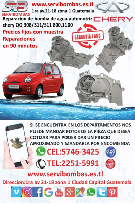 Reparacion De Bombas De Agua Chery Qq 1.0 308,311,s11