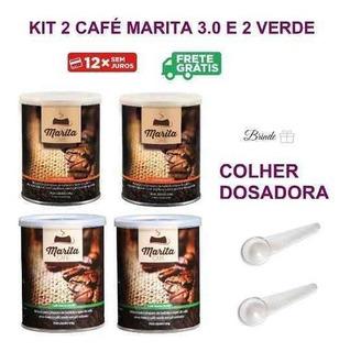 Cafe Marita 3.0 2 Latas Cafe Verde 2 Latas Brinde 2 Colheres