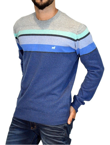 Sweater Pullover Rayado Algodón 14688n-4 Hombre Mistral
