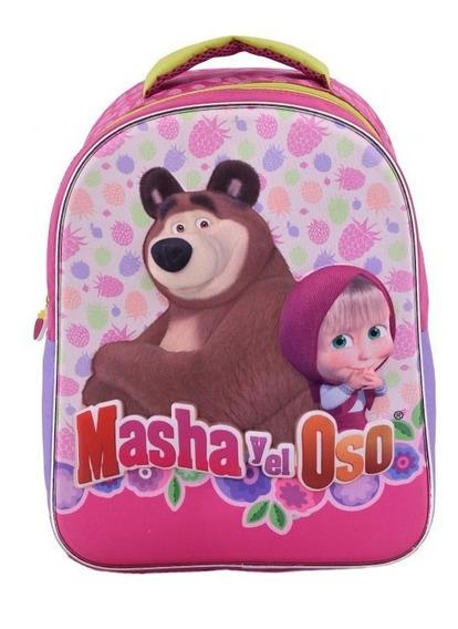 Mochila 3d Espalda 14 P Masha Y El Oso Footy Mma749 Edu