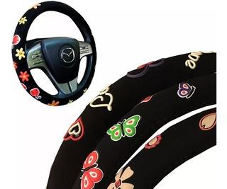 Funda Cubre Volante Femenino Diseños Goma Adherente
