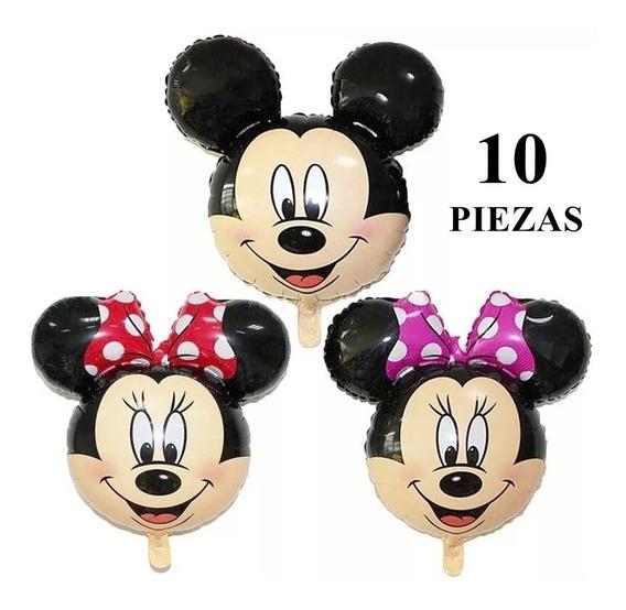 Globos Mickey Minnie Fiesta Cumpleaños Decoración (10 Pzs)