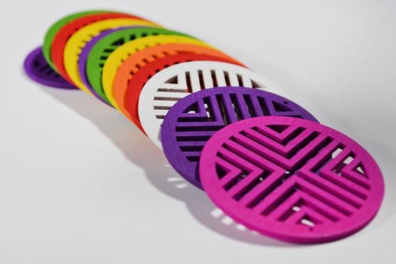 Bisutería: Bolsa De 1/2 K De Madera Grabada Colores Mixtos