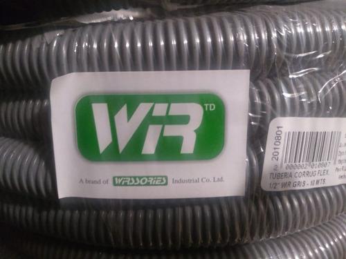 Tubería Corrugada Flexible 1/2  Wir Gris De 10 Metros