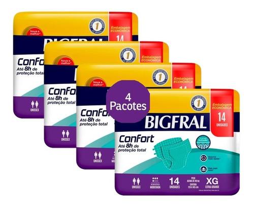 Kit Fralda Bigfral Confort Xg 56 Unidades