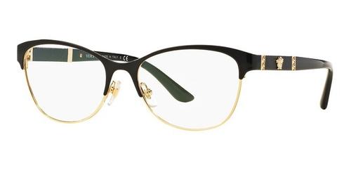 Imagen 1 de 9 de Lentes Versace Ve1233 1366 Black Gold Original Dama Nuevo
