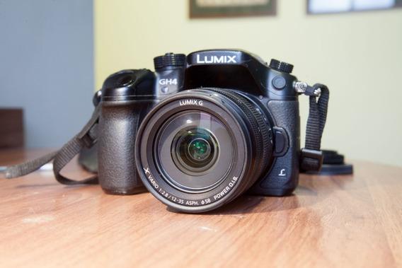 Camera Gh4 4k (v-log) + Lente Panasonic 12-35 F.2.8 Ii