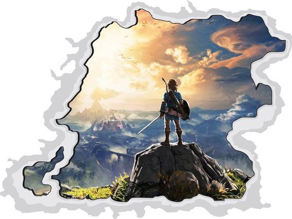 Adesivo 3d Buraco Na Parede Zelda Nintendo Games Geek Decor