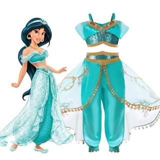 Fantasia Jasmine Aladdin Disney Jasmim Cosplay Princesa Luxo