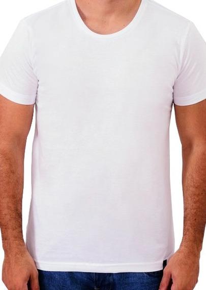 Camiseta Básica 100% Algodão Branca Cool Wave