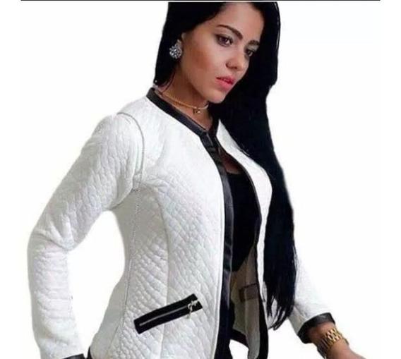 Jaqueta Blazer Jacaquard Feminina Casaco Matelassê Frio Top