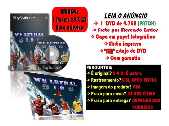 Futebol We Lethal 1.0 P/ Ps2 + Brinde Poster Adesivo 25 X 18