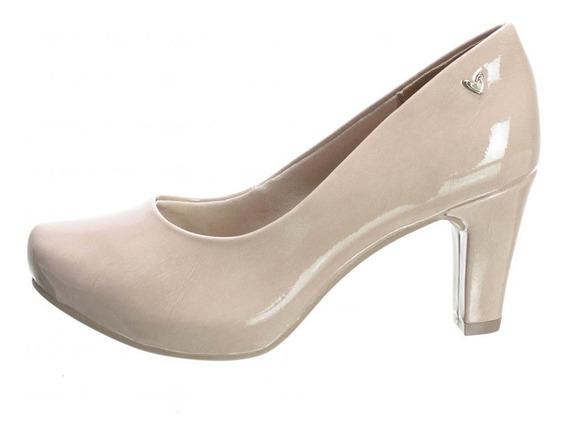 Sapato Mississipi Meia Pata Verniz Salto Baixo Q0173